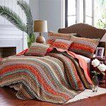 Best-Striped-Classical-Cotton-3-Piece-Patchwork-Bedspread-Quilt-Sets-Queen-0
