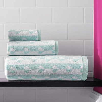 Betsey-Johnson-Flutter-Hearts-3-Piece-Bath-Towel-Set-Spring-Green-0