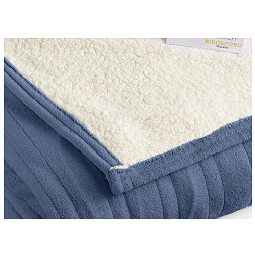 Biddeford-MicroPlush-Sherpa-Electric-Heated-Warming-Blankets-Twin-Full-Queen-King-0-1