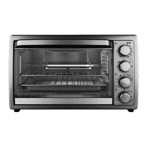 Black-Decker-TO4314SSD-Rotisserie-Convection-Countertop-Toaster-Oven-Silver-0-0