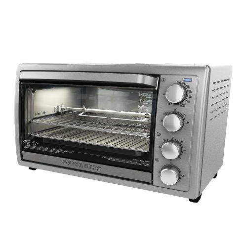 Black-Decker-TO4314SSD-Rotisserie-Convection-Countertop-Toaster-Oven-Silver-0