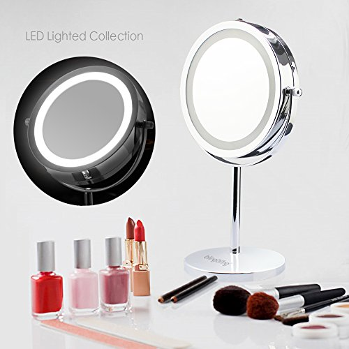 BlingBling-7Inch-10X-Magnifying-Lighted-Makeup-Mirror-Vanity-Mirror-LED-Double-sided-Illuminated-Magnifying-Cordless-Mirror-with-Light-0-0