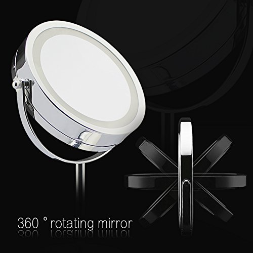 BlingBling-7Inch-10X-Magnifying-Lighted-Makeup-Mirror-Vanity-Mirror-LED-Double-sided-Illuminated-Magnifying-Cordless-Mirror-with-Light-0-1