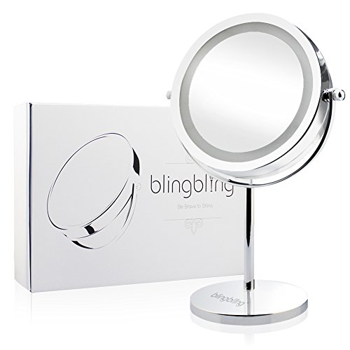 Blingbling 174 7inch 10x Magnifying Lighted Makeup Mirror