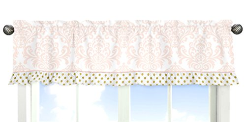 Blush-Pink-White-Damask-and-Gold-Polka-Dot-Amelia-Baby-Girls-9-Piece-Crib-Bedding-Set-with-Bumper-0-1