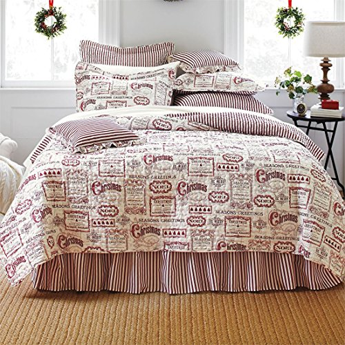 Brylanehome-4-Pc-Vintage-Christmas-Quilt-Set-0-0