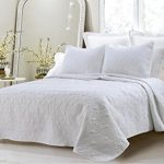 CCDD-Austin-Microfiber-3-Piece-Over-sized-BedspreadCoverlet-Set-QueenKing-0