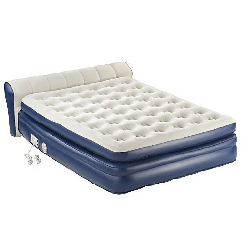 COLEMAN-Aerobed-Queen-Inflatable-Elevated-Airbed-Mattress-w-Headboard-and-Pump-0