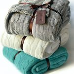 Cable-Knit-Sherpa-Oversized-Throw-Reversible-Blanket-Faux-Sheepskin-Lined-Cozy-Cotton-Blend-Sweater-Knitted-Afghan-in-Grey-White-or-Turquoise-Blue-0