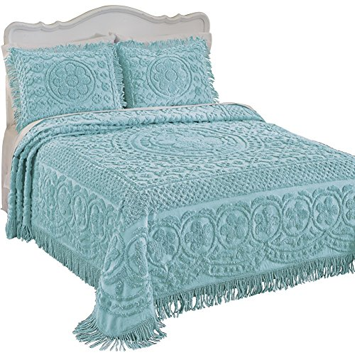 Calista-Chenille-Bedspread-with-Fringe-Border-0