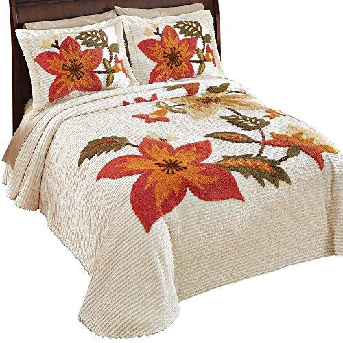 Carmen-Chenille-Harvest-Floral-Bedspread-0