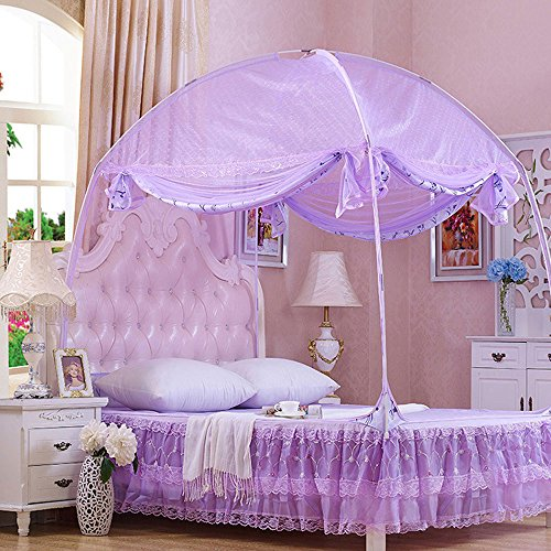 CdyBox-Princess-Mosquito-Net-Bed-Tent-Canopy-Curtains-Netting-with-Stand-Fits-Twin-Full-Queen-0