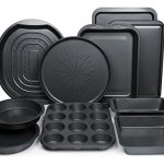 ChefLand-10-Piece-Non-Stick-Bakeware-Set-Oven-Crisper-Pizza-Tray-Roasting-Loaf-Muffin-Square-2-Round-Cake-Baking-Pans-Large-and-Medium-Nonstick-Cookie-Sheet-Bake-Ware-for-Home-Kitchen-Use-0-1