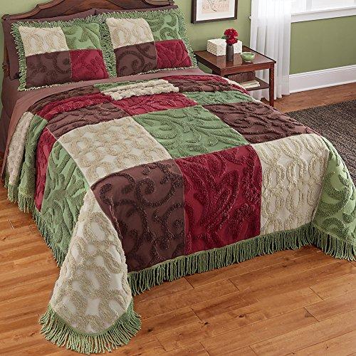 Chenille-Patchwork-FullQueen-Bedspread-0