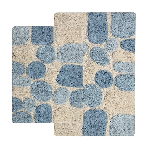Chesapeake-2-Piece-Pebbles-21-Inch-by-34-Inch-and-24-Inch-by-40-Inch-Bath-Rug-Set-0