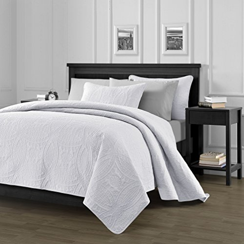 Chezmoi-Collection-3-Piece-118-by-106-Austin-Oversized-Bedspread-Coverlet-Set-King-White-0