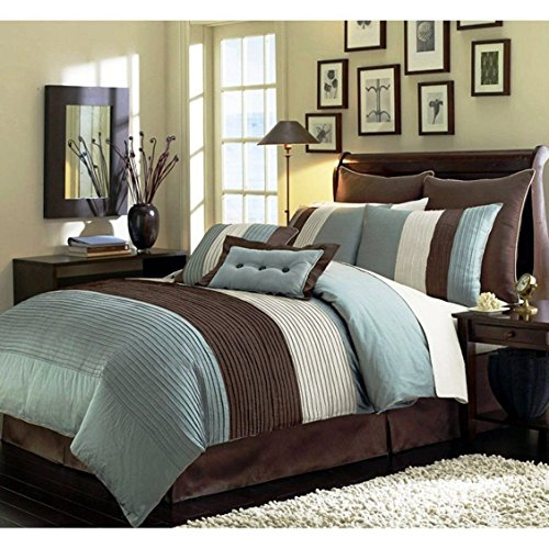 Chezmoi-Collection-8-Piece-Luxury-Stripe-Comforter-Bed-in-a-Bag-Set-Full-Size-Beige-Blue-and-Brown-0