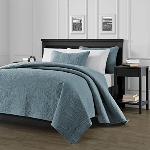 Chezmoi-Collection-Austin-3-Piece-Oversized-Bedspread-Coverlet-Set-King-Spa-Blue-118-by-106-Inch-0