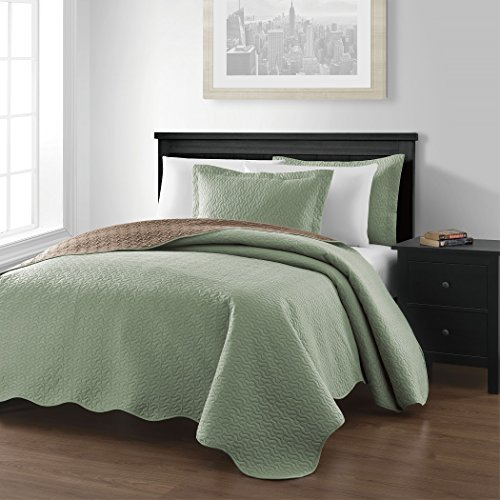 Chezmoi-Collection-Mesa-3-piece-Oversized-118×106-Reversible-Bedspread-Coverlet-Set-King-SageTaupe-0