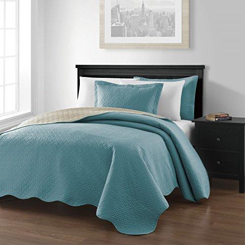 Chezmoi-Collection-Mesa-3-piece-Reversible-Bedspread-King-Size-BlueKhaki-0