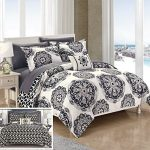 Chic-Home-8-Piece-Barcelona-Super-Soft-microfiberREVERSIBLE-King-Bed-In-a-Bag-Comforter-Set-Navy-With-sheet-set-0-0