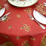 Christmas-Square-60-x-60-inch-Stain-Resistant-Coated-Tablecloth-Olives-Bouquet-in-Red-Indoor-and-Outdoor-Use-Easy-Care-Cotton-Acrylic-French-Provence-Fabric-Water-and-Stain-Resistant-0-1