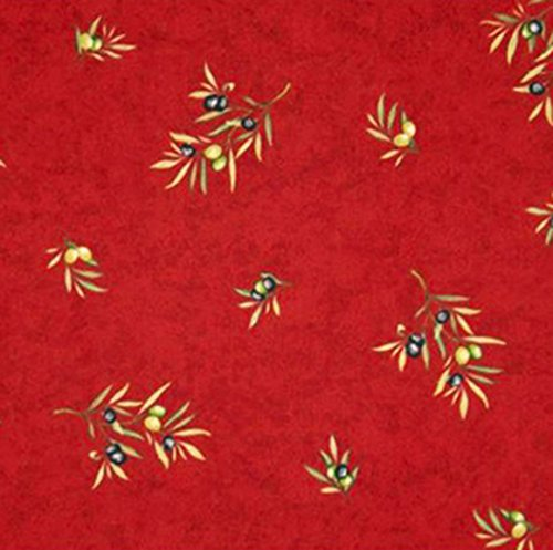 Christmas-Square-60-x-60-inch-Stain-Resistant-Coated-Tablecloth-Olives-Bouquet-in-Red-Indoor-and-Outdoor-Use-Easy-Care-Cotton-Acrylic-French-Provence-Fabric-Water-and-Stain-Resistant-0