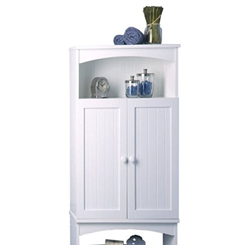 Cottage-2463-x-6475-Over-the-Toilet-Cabinet-White-Finish-Wood-Construction-Comes-with-Hidden-Storage-with-Adjustable-Shelf-Traditional-Style-0-0