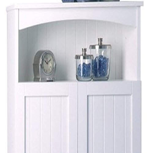 Cottage-2463-x-6475-Over-the-Toilet-Cabinet-White-Finish-Wood-Construction-Comes-with-Hidden-Storage-with-Adjustable-Shelf-Traditional-Style-0-1