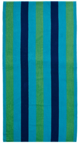 Cotton-Craft-Oversized-Jacquard-Double-Woven-Velour-Beach-Towel-39×68-Cabana-Stripe-Navy-Green-Turquoise-Choice-of-2-Pack-or-Single-Pack-Thick-Plush-Luxurious-Velour-Pile-450-grams-per-square-meter-10-0