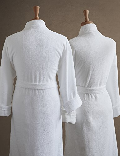 Couples-Terry-Cloth-Bathrobe-Set-100-Egyptian-Cotton-UnisexOne-Size-Fits-Most-Luxurious-Soft-Plush-Elegant-Script-Embroidery-Perfect-Wedding-Gift-Luxor-Linens-San-Marco-0-0