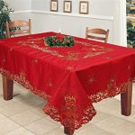 Creative-Linens-Holiday-Christmas-Embroidered-Poinsettia-Candle-Bell-Tablecloth-With-Napkins-RED-GOLD-0