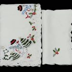 Creative-Linens-Holiday-Embroidered-Snowman-and-Christmas-Tree-Table-Cloth-70×104-Rectangular-with-12-Napkins-White-0-1