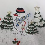 Creative-Linens-Holiday-Embroidered-Snowman-and-Christmas-Tree-Table-Cloth-88-ROUND-with-12-Napkins-White-0-0