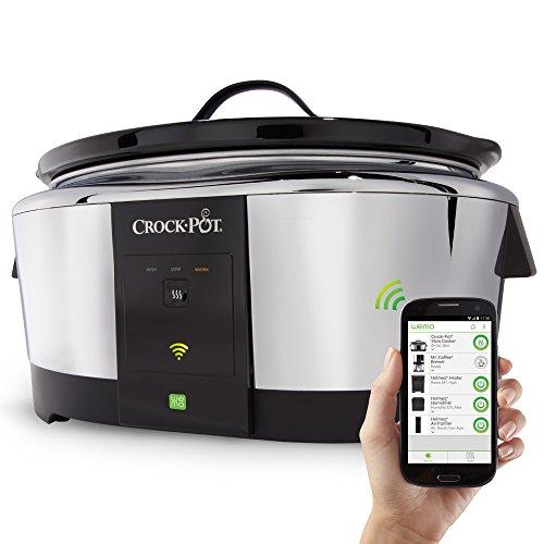 Crock-Pot-SCCPWM600-V2-Wemo-Smart-Wifi-Enabled-Slow-Cooker-6-Quart-Stainless-Steel-0