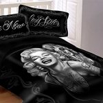 DGA-Marilyn-Monroe-Smile-Now-Cry-Later-Super-Soft-Queen-Size-Comforter-wPillow-Shams-0