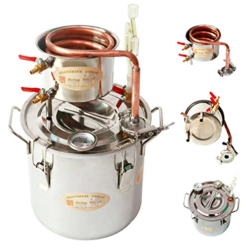 DIY-3-Gal-12-Liters-Home-Distiller-Moonshine-Alcohol-Still-Stainless-Boiler-Copper-Thumper-Keg-0