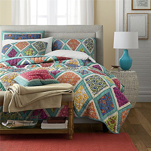 DaDa-Bedding-Collection-Cotton-Fairy-Forest-Glade-Floral-3-Piece-Reversible-Quilt-Cover-Set-0