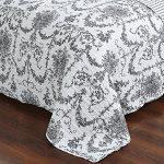DaDa-Bedding-Collection-Elegant-Victorian-Candelabra-Quilt-Patchwork-Bedspread-Set-Floral-White-Black-2-3-Pieces-0-0