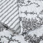 DaDa-Bedding-Collection-Elegant-Victorian-Candelabra-Quilt-Patchwork-Bedspread-Set-Floral-White-Black-2-3-Pieces-0-1