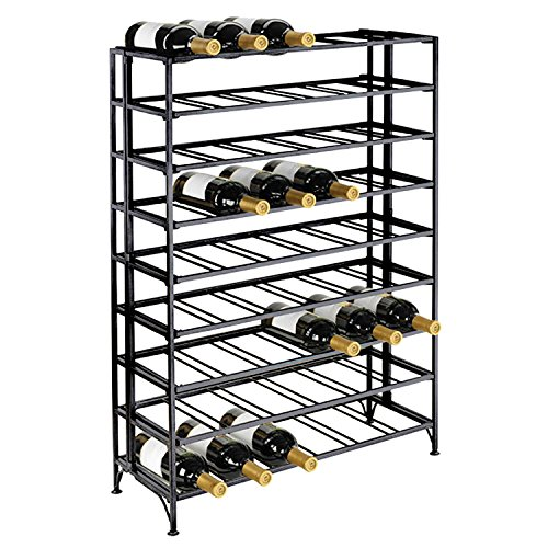 Deluxe-54-Bottle-Large-Foldable-Metal-9-Tier-Wine-Connoisseur-Rack-Cellar-Storage-Display-Stand-0-0