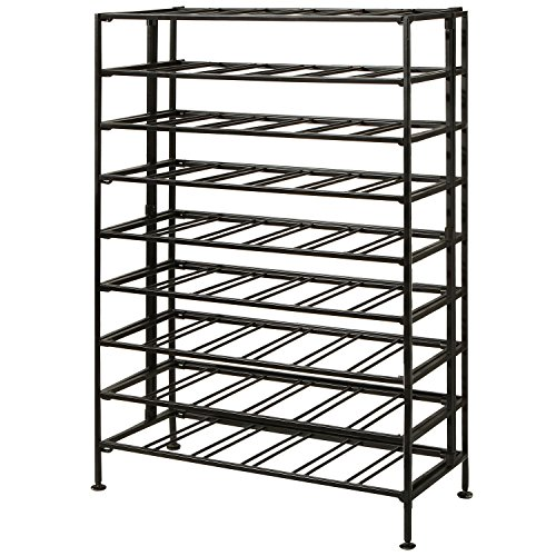 Deluxe-54-Bottle-Large-Foldable-Metal-9-Tier-Wine-Connoisseur-Rack-Cellar-Storage-Display-Stand-0-1