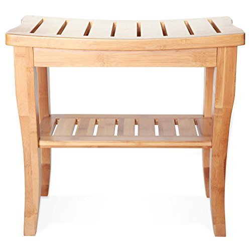 Deluxe-Bamboo-Shower-Seat-Bench-with-Storage-Shelf-0-0