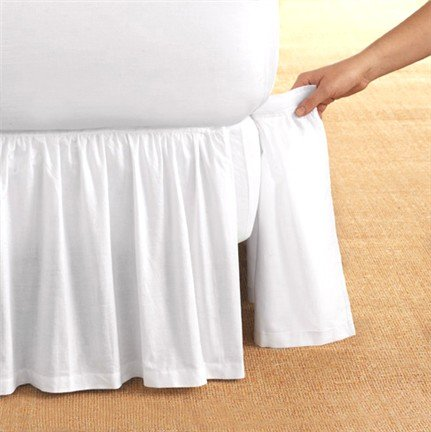 Detachable-Bedskirt-Dust-Ruffle-King-Size-14-drop-White-0