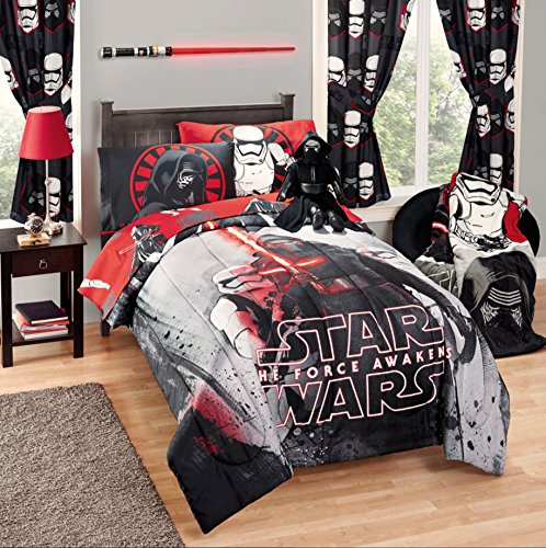 Disney-Star-Wars-5-Piece-Kids-Bed-in-a-Bag-Full-Bedding-Set-Reversible-Comforter-Sheets-Pillow-Cases-0