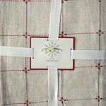 Domain-Fabric-Holiday-Tablecloth-Red-Embroidered-Threading-on-Natural-Flax-Cream-Background-60-Inches-by-108-Inches-0