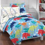 Dream-Factory-Dinosaur-Prints-Boys-Comforter-Set-Multi-Colored-Twin-0