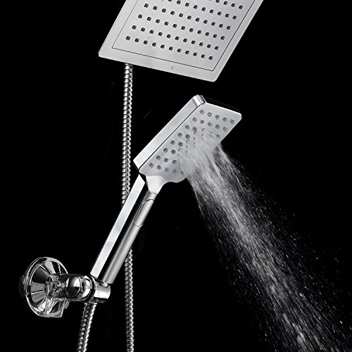 DreamSpa-Ultra-Luxury-9-Rainfall-Shower-Head-Handheld-Combo-Convenient-Push-Button-Flow-Control-Button-for-easy-one-handed-operation-Switch-flow-settings-with-the-same-hand-Premium-Chrome-0-1