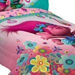 Dreamworks-ML7388-Trolls-Life-Comforter-Trolls-Life-Reversible-TwinFull-Comforter-0