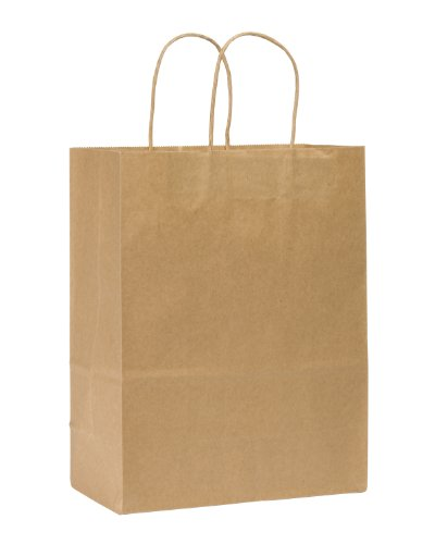 Duro-ID-87124-Missy-Shopping-Bag-60-Natural-Kraft-250pk-10-x-5-x-13-0